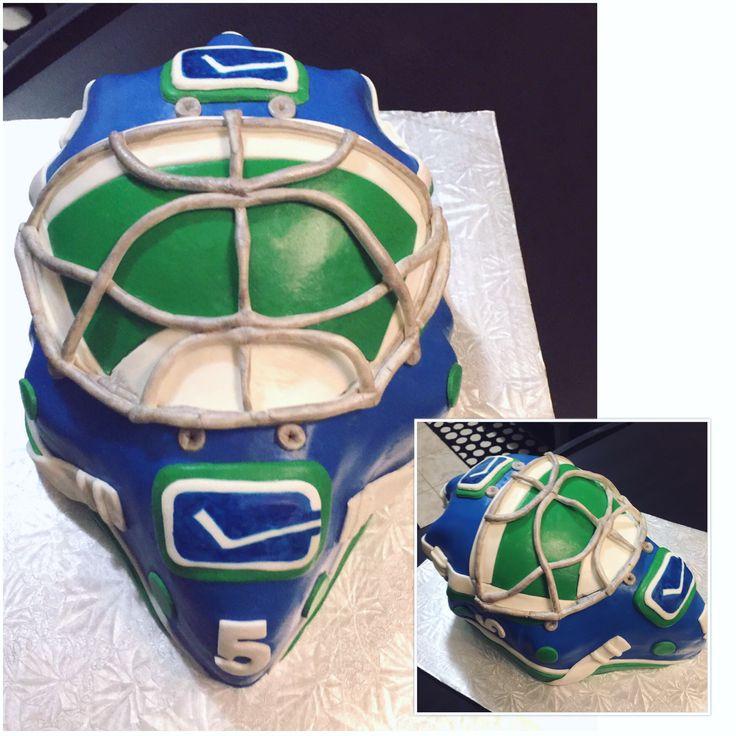 Vancouver Canucks Goalie Helmet Cake