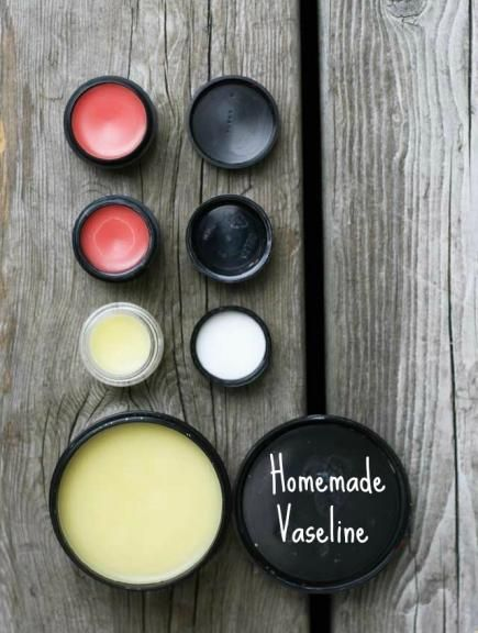 By heating beeswax pellets and coconut oil, you can create do-all homemade vaseline. #Beauty #DIY