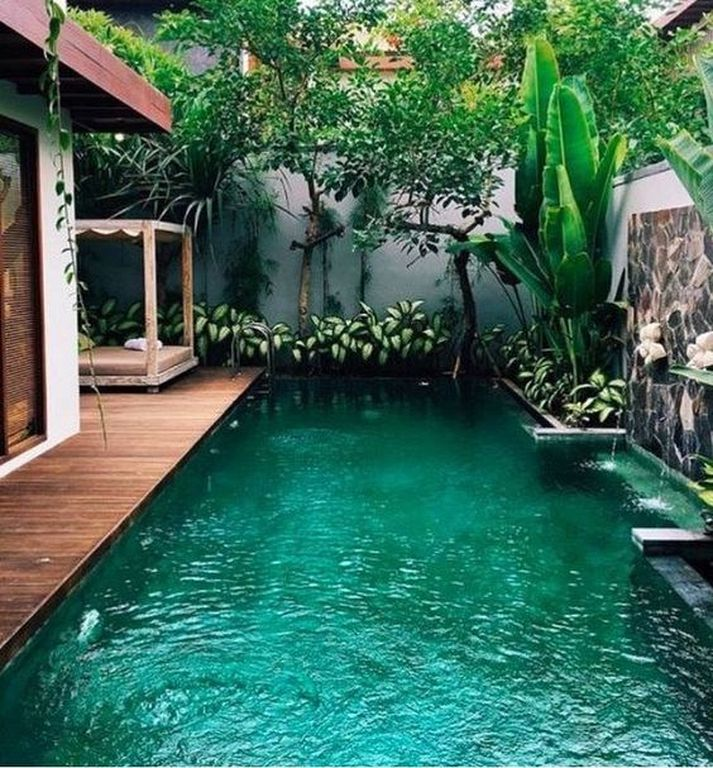 30 Stunning Balinese Pool Design Ideas Make You Want To Vacation There 87designs Small Pool Design Backyard Beach Pool Landscaping