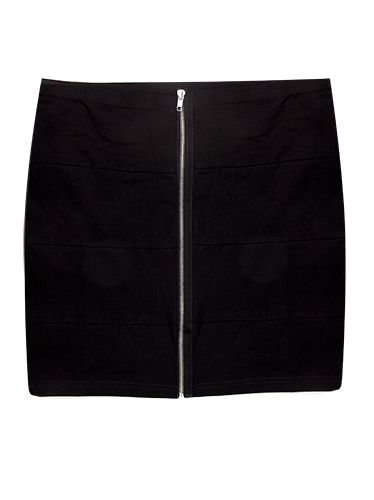 Free 2BU Black Skirt- an updated classic. The simple black skirt is brought up to date perfectly with the addition of the clever little zip.
