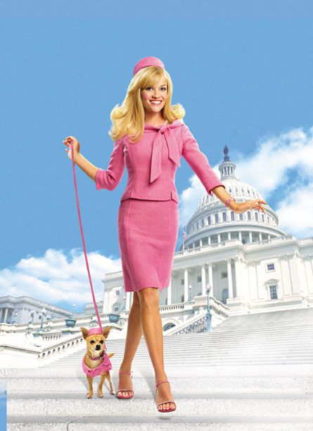 2003 Mattel Barbie Legally Blonde 2  Reese Witherspoon with Bruiser the Chihuahua Red White and Blonde Doll | eBay