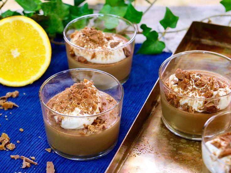 Mjölkchokladpannacotta med smak av apelsin | Recept från Köket.se