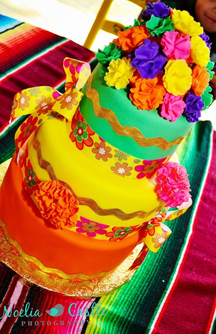 Mexican fiesta party decorating ideas hosting guide - Mexican Fiesta Cake