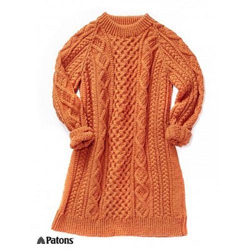 Ravelry: Honeycomb Aran Dress pattern by Patons