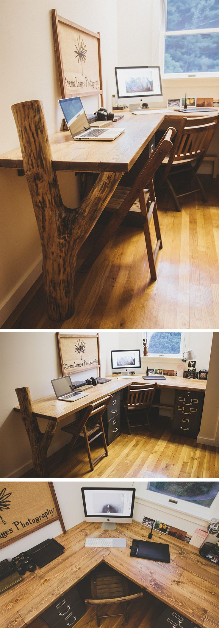 Rustic Desk. Reclaimed wood. Read the story here:…