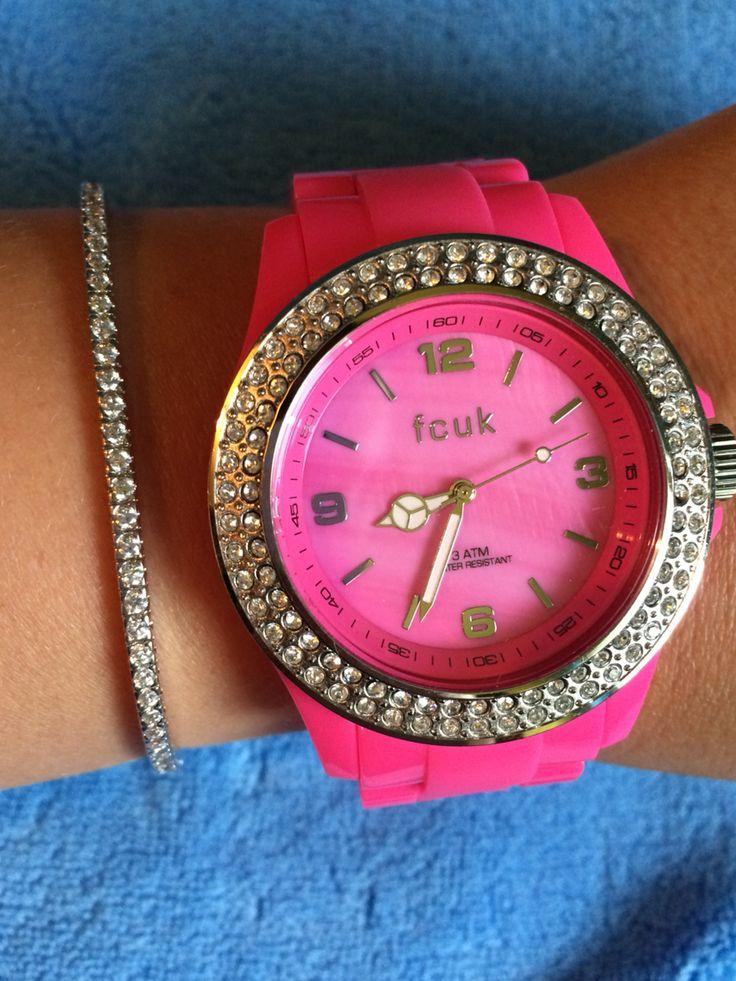 FCUK Pink watch