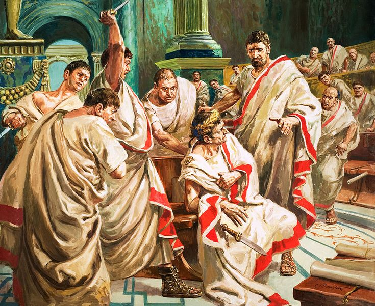 The Death Of Julius Caesar (Original) (Signed) art by Cecil Doughty at The Illustration Art Gallery