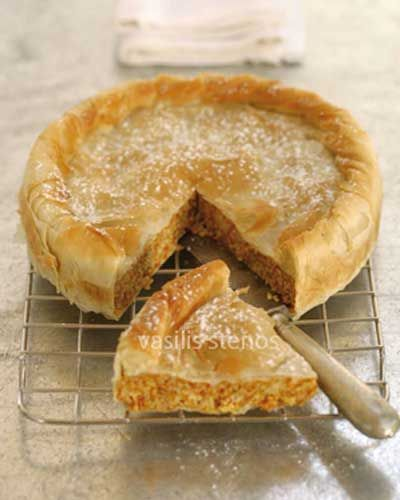 Greek Pumpkin Pie with Phyllo and Honey