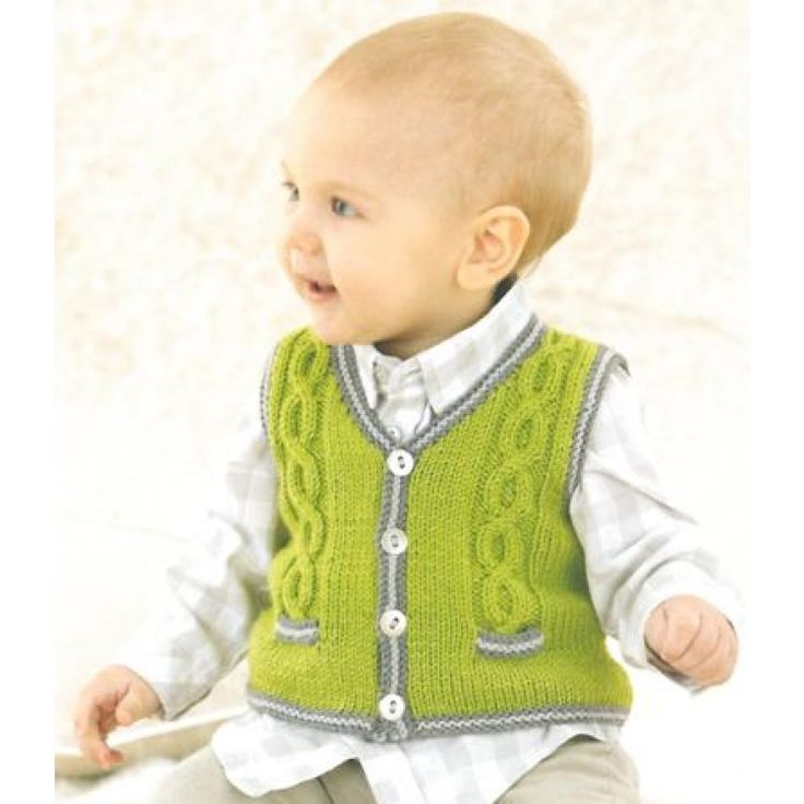 Babies Vest knitted in Sublime Baby Cashmere Merino Silk Dk