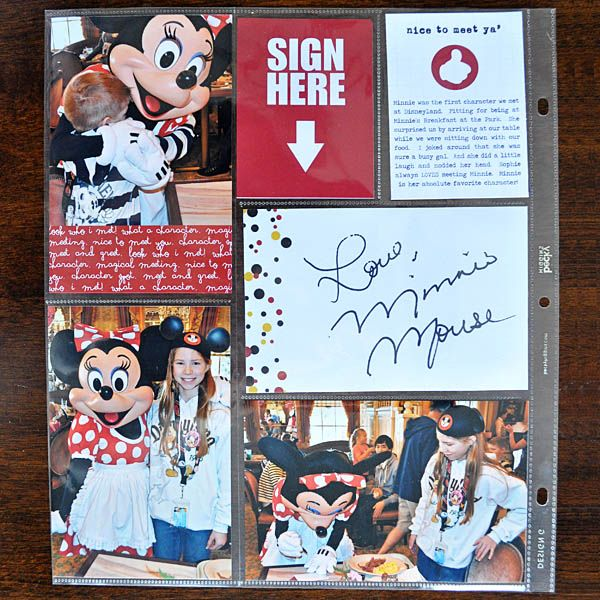 Use Project Life cards/page protectors for autographs.