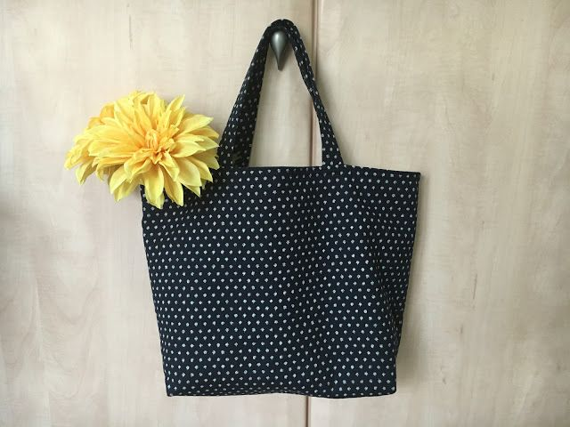 a lined Tote bag from Heather's Sewing Room