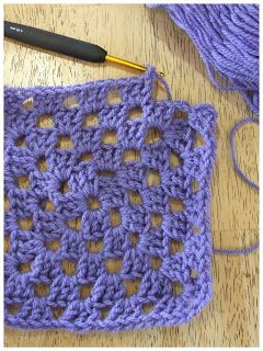 FitzBirch Crafts: Left Handed Crochet - Granny Square