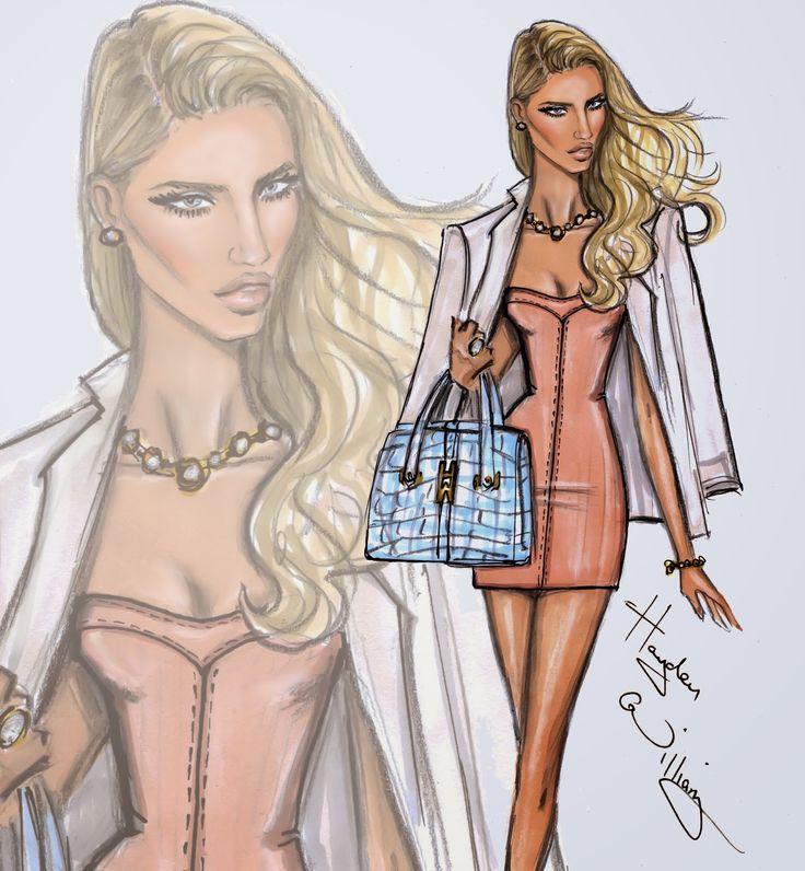 Hayden Williams Fashion Illustrations: Happy Birthday Rosie Huntington-Whiteley