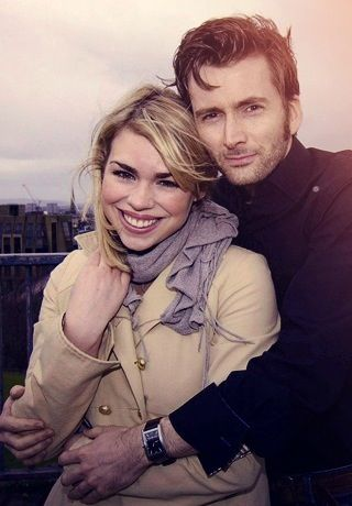 Billie Piper and David Tennant :) they look so happy, I don't think they're acting! They would be good together in real life but tennant is married...