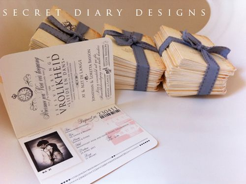 Passport Invitation By Secret Diary Designs; Even For Those Not Having A  Destination Wedding