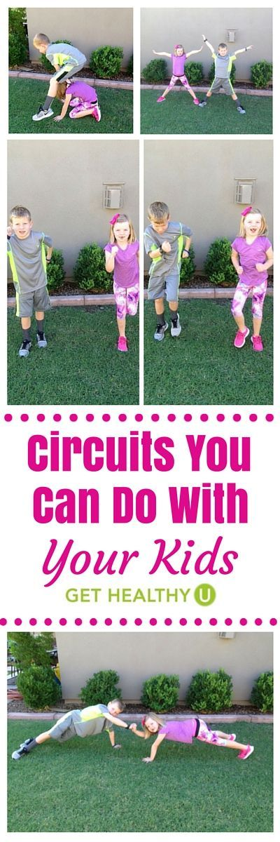 For those days you really need a workout but seem to be getting nowhere, how about teaming up for some fun circuits you can do with your kids that will get them moving and having fun?: