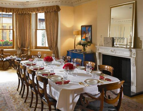 Formal Georgian Dining Room In London Town House