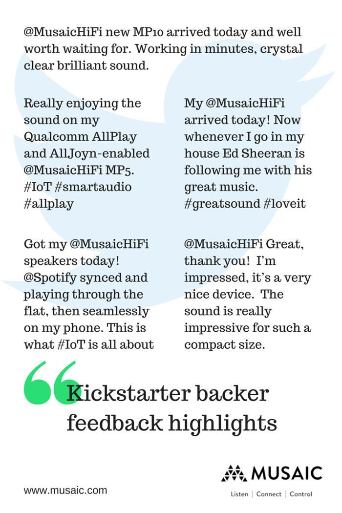Musaic Wireless HiFi Music System - Your music, Your way. by Musaic — Kickstarter