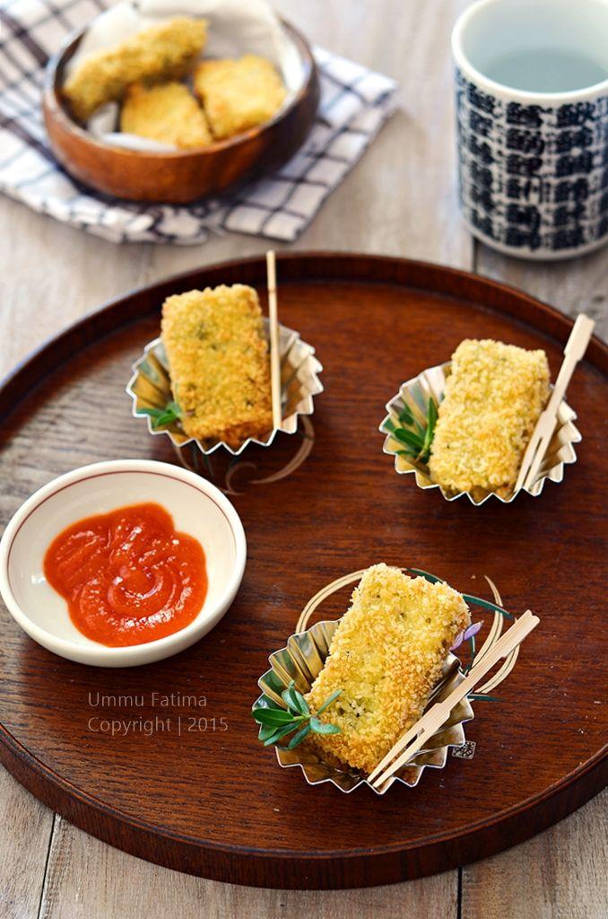 Simply Cooking and Baking...: Nugget Tahu Teri Nasi Brokoli
