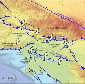 Faults in Los Angeles | Los Angeles 'big squeeze' continues, straining earthquake faults