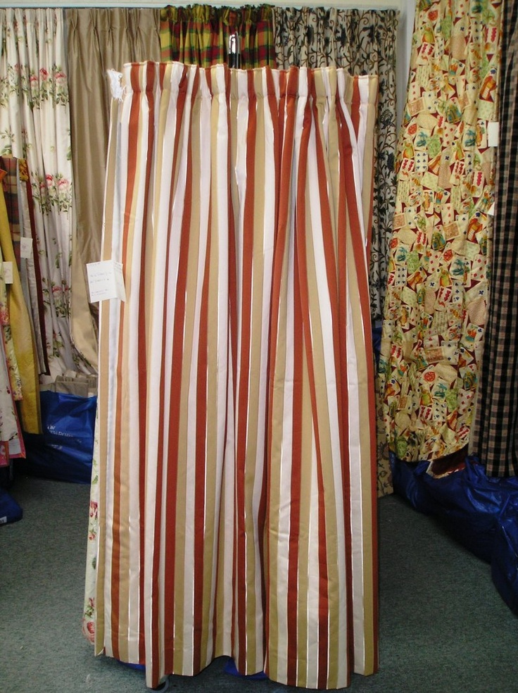1000 Images About Striped Curtains On Pinterest Floral Patterns Leaves And Mauve