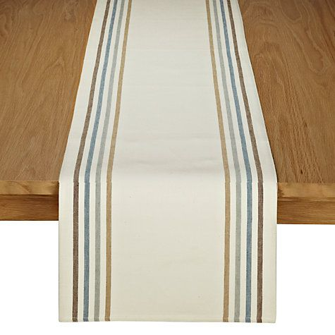 Buy John Lewis Contrast Stripe Table Runner online at John Lewis