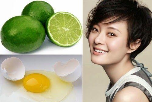 Làm cắng da mặt với mặt nạ trứng gà