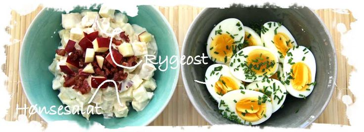 Hønsesalat m. æble, bacon og rygeost, knoldselleri. Foto: Salattøsen