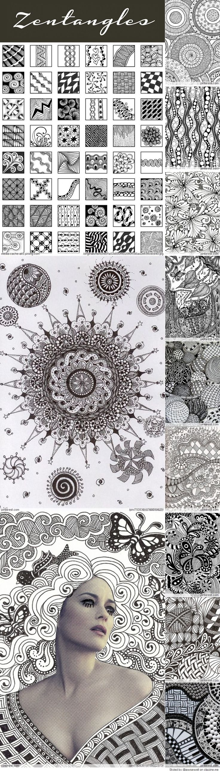 Doodle Inspiration - Zentangle Pattern