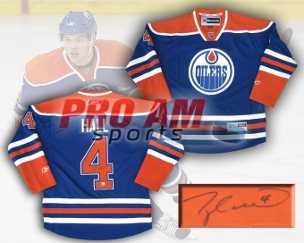 Taylor Hall Edmonton Oilers Vintage Blue Signed Replica Jersey - Edmonton Oilers - other  To order or for more information or pricing please contact info@roadgearsports.com