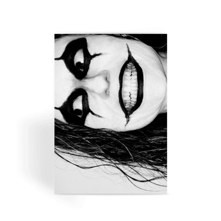 Scary Clown Face Greeting Card