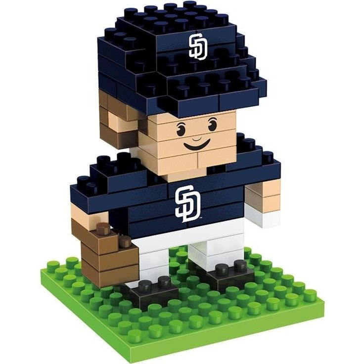 San Diego Padres MLB 3D BRXLZ Construction Puzzle Set Team Player