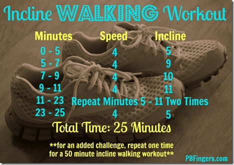 Walking Incline Treadmill Workout