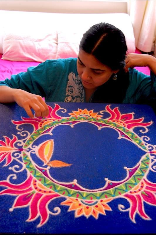 Diwali Rangoli for O2 by Humna Mustafa (formerly of Adelaide, South Australia via Pakistan), via Behance
