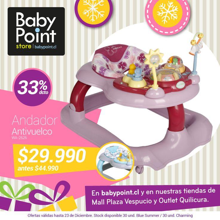 #NavidadBabypoint 33% de descuento en andador antivuelco. ¡Lleno de actividades y sorpresas! Revísalo aquí -> bit.ly/1GLf9HW