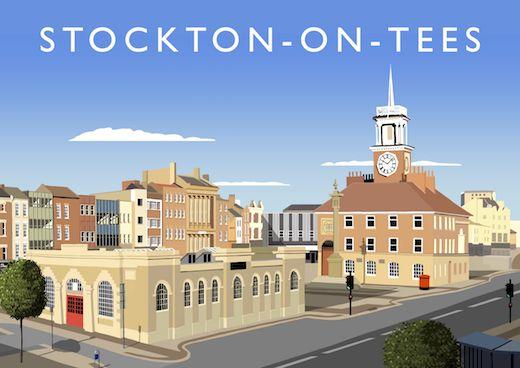 Stockton-on-Tees Art Print