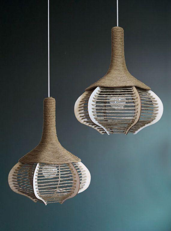 Province Chandelier, (SOLID TIES)  Ceiling Lamp, Retro Pendant Light, Vintage Lighting, Rope Lights, Mediterranean lamp shade