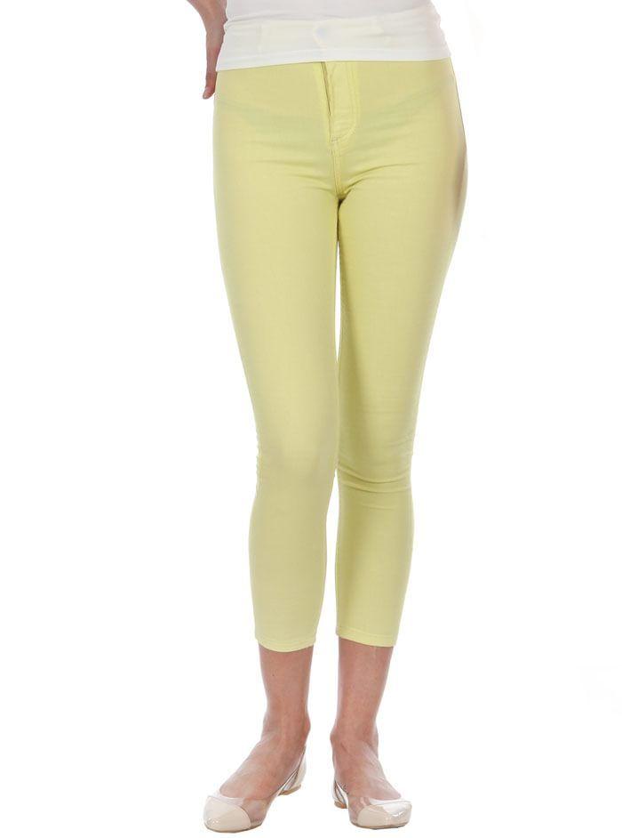 Yüksek Bel Bilek Renkli Bayan Pantolon Sarı MC07280914080