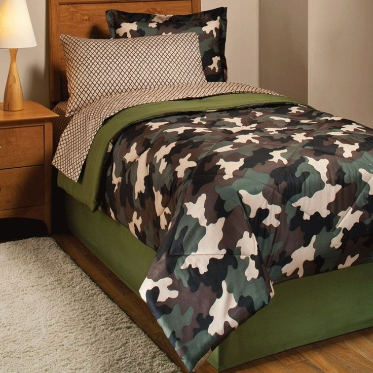 209 best decor bedrooms kids images on pinterest for Camouflage bedroom ideas for kids