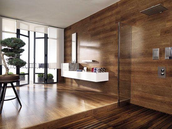ceramic floor that looks like wood tile bathroom