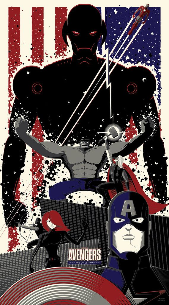 "All of you, against all of me! || Ultron, Bruce Banner, Thor Odinson, Clint Barton, Natasha Romanoff, Steve Rogers, Tony Stark || by Bruce Yan || 569px x 1024px || #fanart || $50, 20"" x 36"""