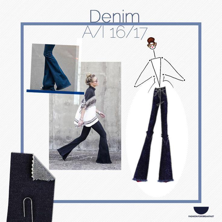 Buongiorno e buon inizio settimana da #FashionForBreakfast! ☀️ Iniziamo con un focus trend sul denim Autunno/Inverno 2016-2017: il #jeans a zampa.  Questi e altri focus per la vostra collezione di moda li trovate su www.fashionforbreakfast.it.