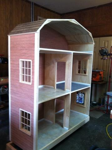 "Beautiful 18"" doll house!!!https://www.facebook.com/#!/pages/Taters-Tots/329978444248  (a friend's hubby made this - not sure I can let the girls see it, because I know they'll want it, lol!)"