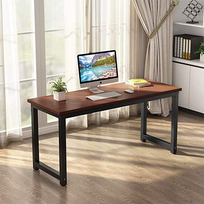 Tribesigns Modern Computer Desk 63 Inches Large Office Desk Computer Table Study Writing Desk Large Office Desk Computer Desk Design Home Desk