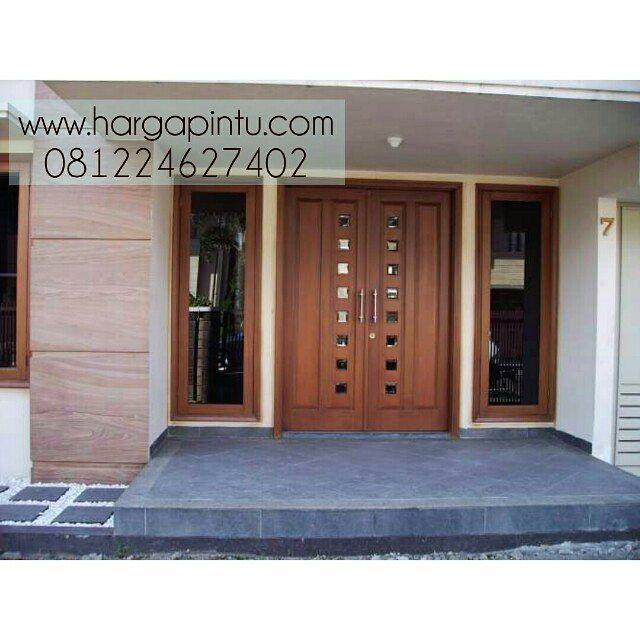 """Desain Pintu Rumah Kontemporer  #pintuutama #pintukontemporer #jualpintujati #pintujatijepara…"""""""