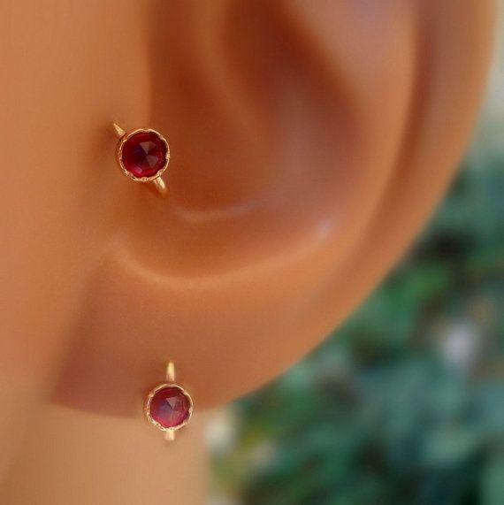 how to find diameter of helix piercing