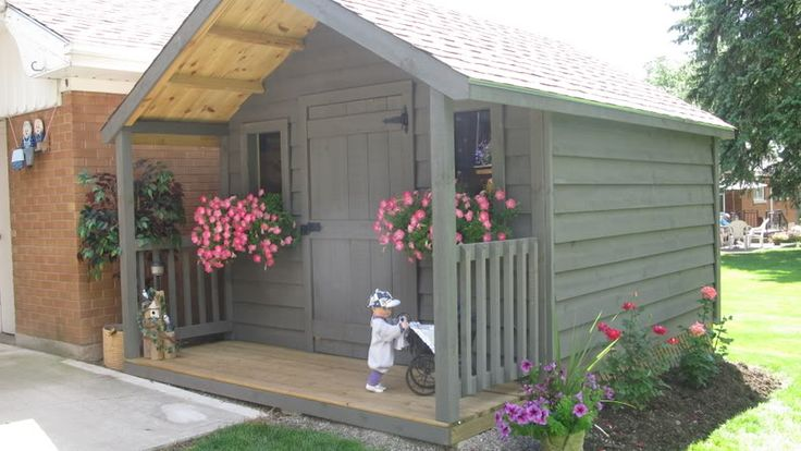 1000 images about garden sheds on pinterest backyard for Storage building plans with porch
