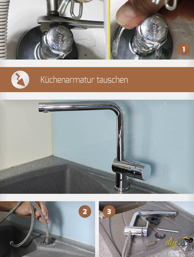 Küchenarmatur wechseln Selbermachen Bauen  Renovieren Pinterest
