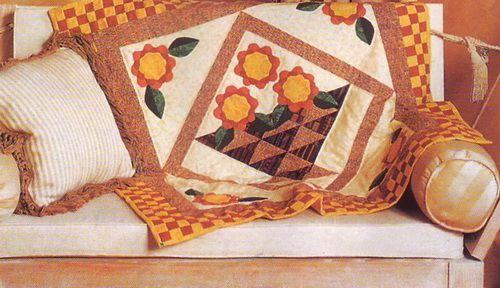 Стеганое одеяло «Корзинка» своими руками