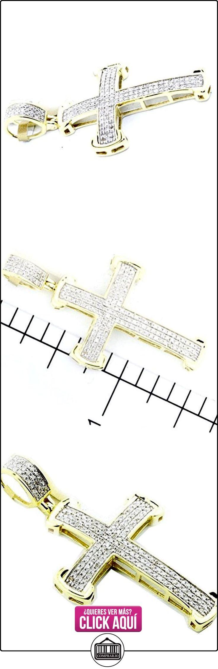 pendants-midwestjewellery Hombre Colgante de Cruz 10K 1/3cttw Diamonds, 40mm de alto (0,33quilates), color dorado  ✿ Joyas para hombres especiales - lujo ✿ ▬► Ver oferta: http://comprar.io/goto/B00LMKC4OC